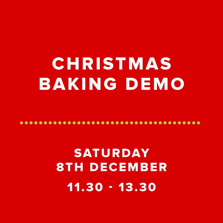 Christmas Baking Demo - Sat 8th Dec 2018 Morning - Cakeface
